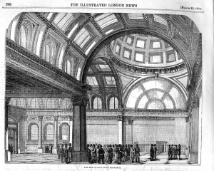 Interior of the London Exchange, The Illustrated London News, March 25, 1854.