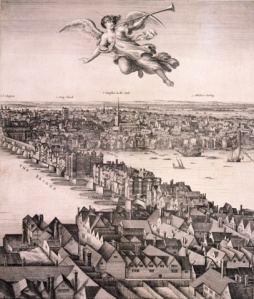 A panoramic view of London, c.1670 by Wenceslaus Hollar. Photograph: Heritage Image Partnership Ltd/Alamy Source:http://www.theguardian.com/cities/gallery/2014/apr/21/london-historic-skylines-in-pictures