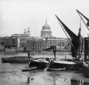 St Paul's Cathedral viewed from Southwark, across the River Thames, in 1859. Photograph: William England/Getty Images Source: http://www.theguardian.com/cities/gallery/2014/apr/21/london-historic-skylines-in-pictures