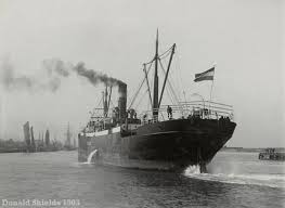 A steamship from the 1900s.