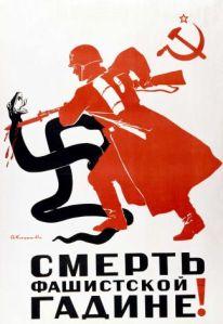 Anti-Nazi propaganda poster, 1945